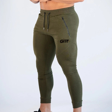 Calça moletom para musculação masculina, calça de algodão para academia e treino, outono/inverno 2019