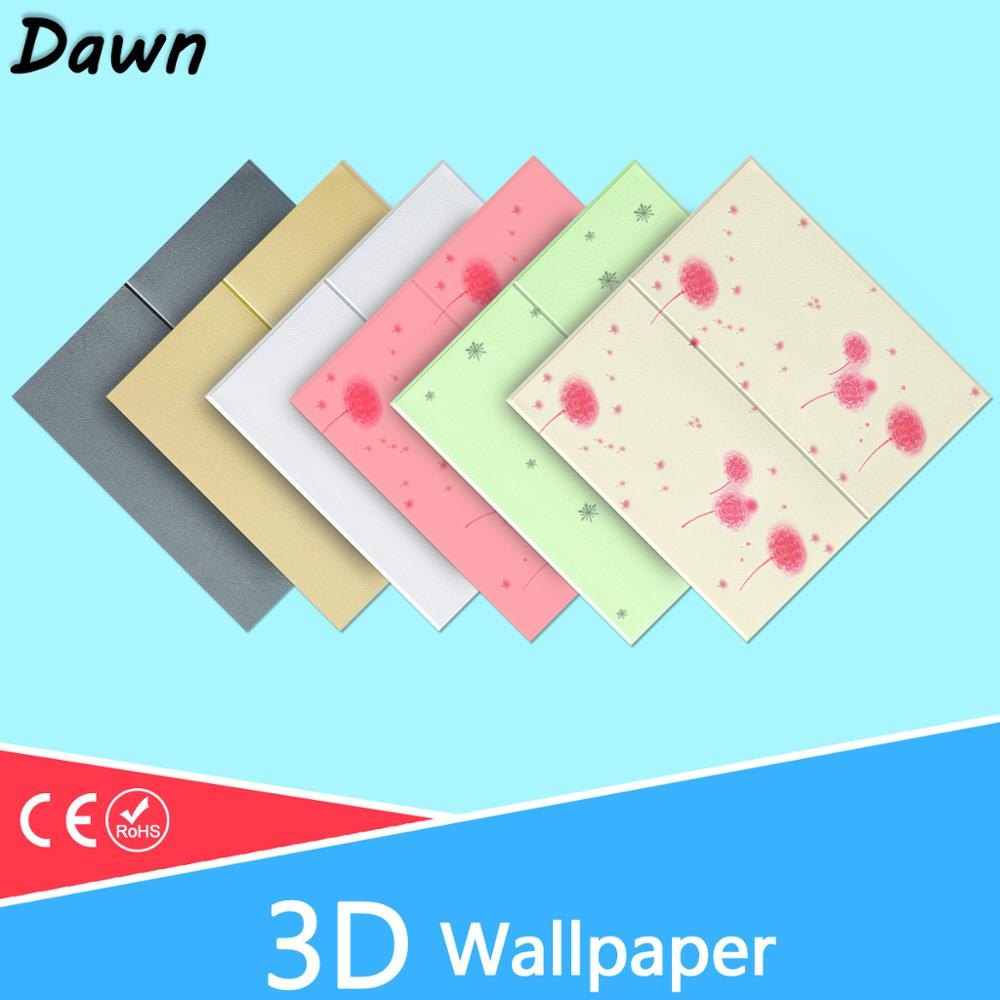 3D Wall Stickers Pattern Waterproof Self-adhesive DIY Floral Prints Wallpaper For Kids Room Living Room Wall Sticker Brick Stone
