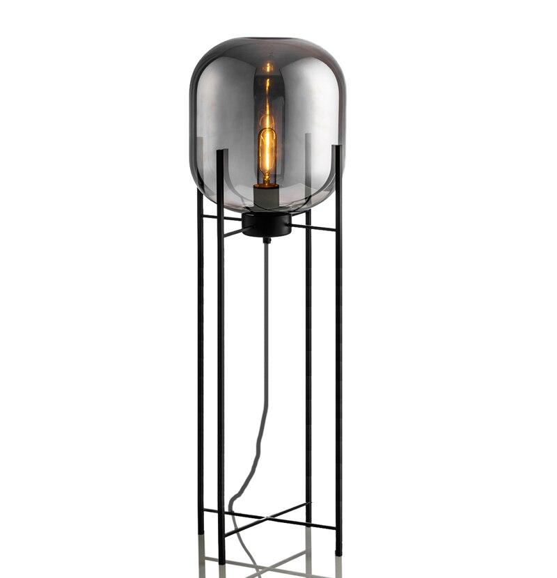 Nordic Retro Floor Lights Living Room Standing Lighting Home Decor Fixtures Iron Glass Illumination Bedroom Floor Lamps