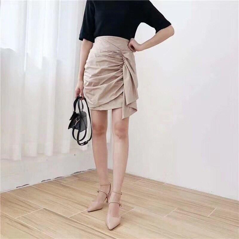 Pleated Short Skirt Women's 2019 Summer New Style WOMEN'S Dress Elegant A- Line Skirt Simplicity Sheath Korean-style Short Skirt