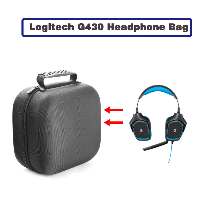 Travel Bag Portable Case For Logitech G430 G933 Headphone Gaming Headset Cover Box Bag Universal switch case G231 G430 A40 PRO image