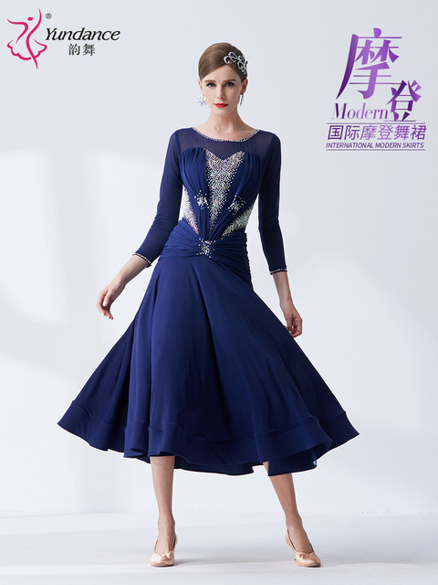 2020 News ballroom dress standard clothes for ballroom dancing ballroom dance competition dresses M19341