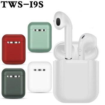 WLMLBU Hot Sell i9s i7s TWS Mini Wireless Bluetooth Earphone Stereo Earbud Headset With Charging Box Mic For All Smart phone mini wireless bluetooth earphone i9s tws stereo headset invisible earbud for all smart phone for iphone huawei pk i7s i12 i11