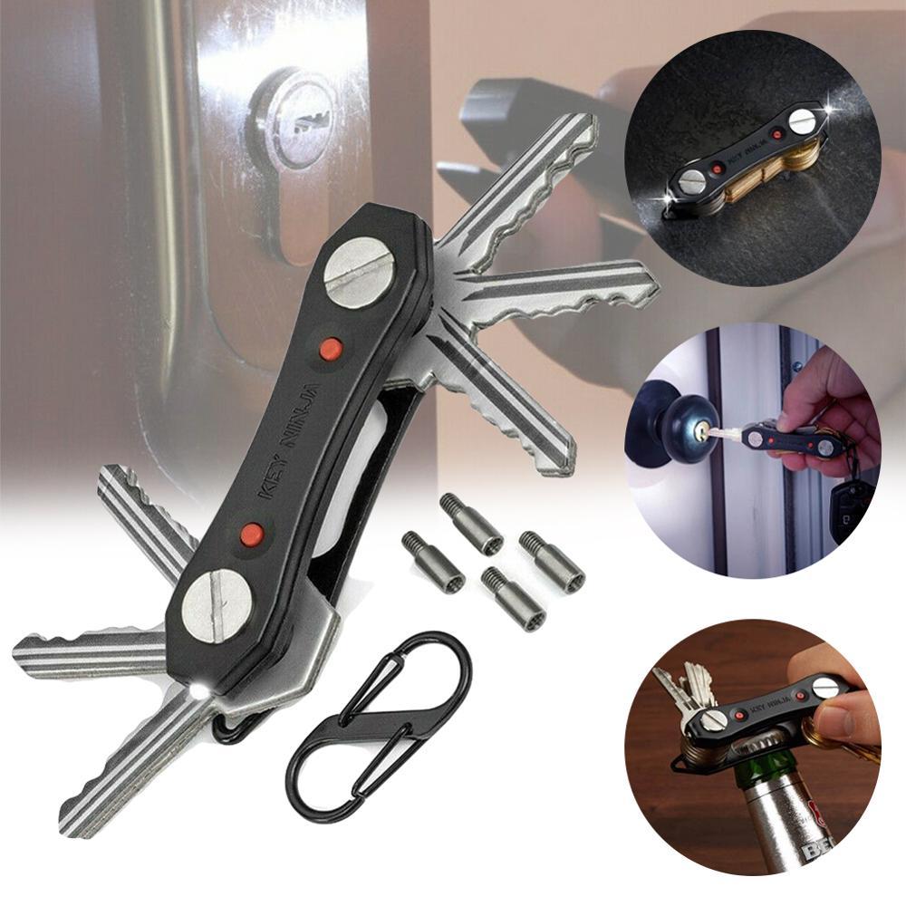 Smart Key Holder Compact Key Chain Organizer With LED Lights Bottle Opener 40JP14