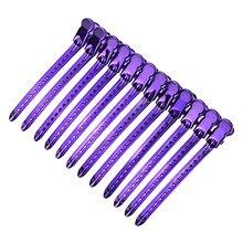 10 estilos de metal jacaré grampo de cabelo cabeleireiro braçadeira hairpins diy barbeiro pro salão de beleza ferramentas estilo de cabelo diy casa