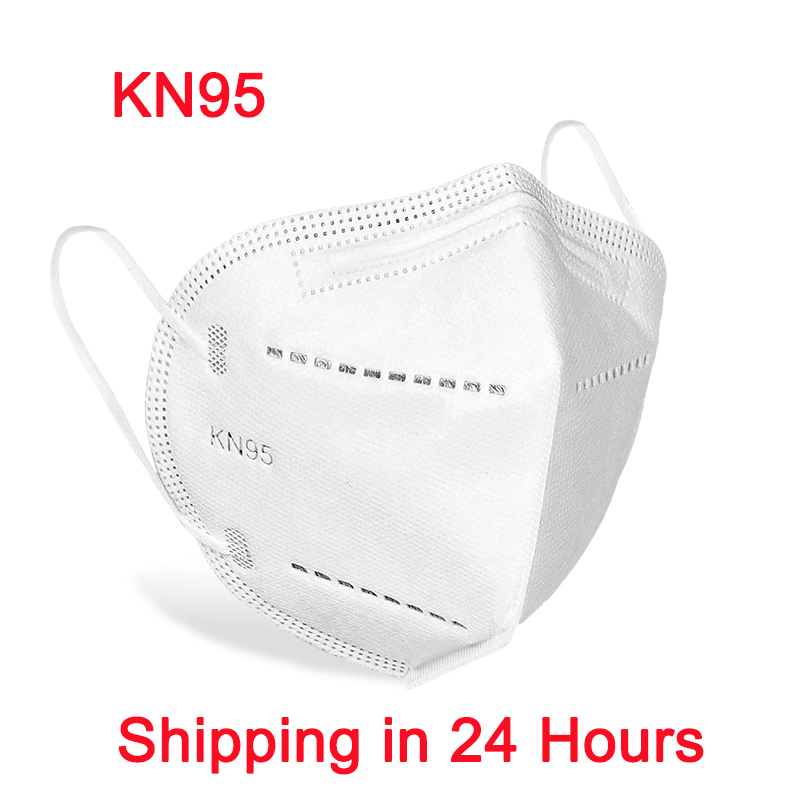 Fast Shipping KN95 5 Layers Filtering Facial Face Masks Dustproof Safety Nonwoven Earloop Disposable KN95 Cover Mouth Dust Mask