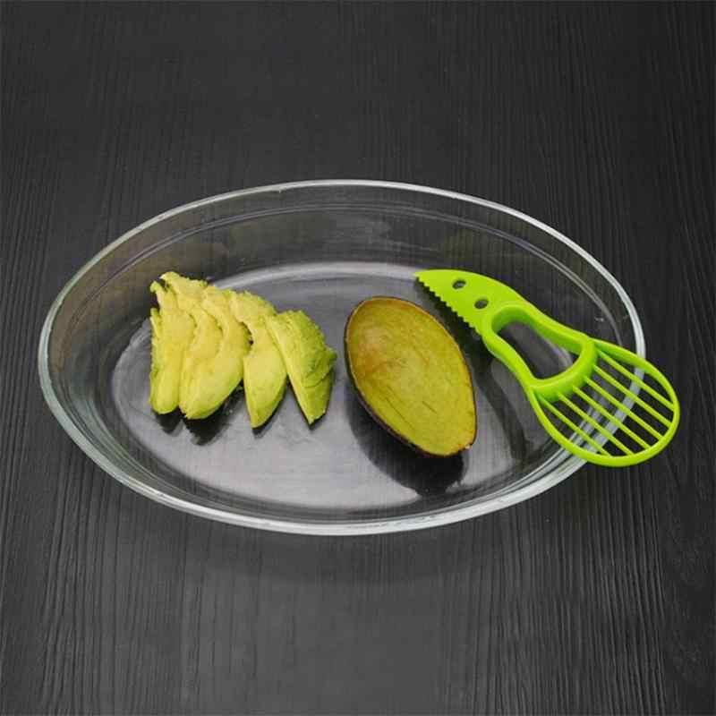 3 en 1 rebanadora de aguacate Shea Corer pelador de mantequilla cortador de fruta separador de pulpa cuchillo de plástico utensilios para verdura Cocina