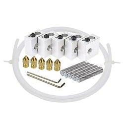 1,75 мм горло трубка + 0,4 мм Экструдер Насадка печатающие головки + нагреватель блоки Hotend + тефлоновая трубка для MK8 Makerbot Anet A8 3d принтер