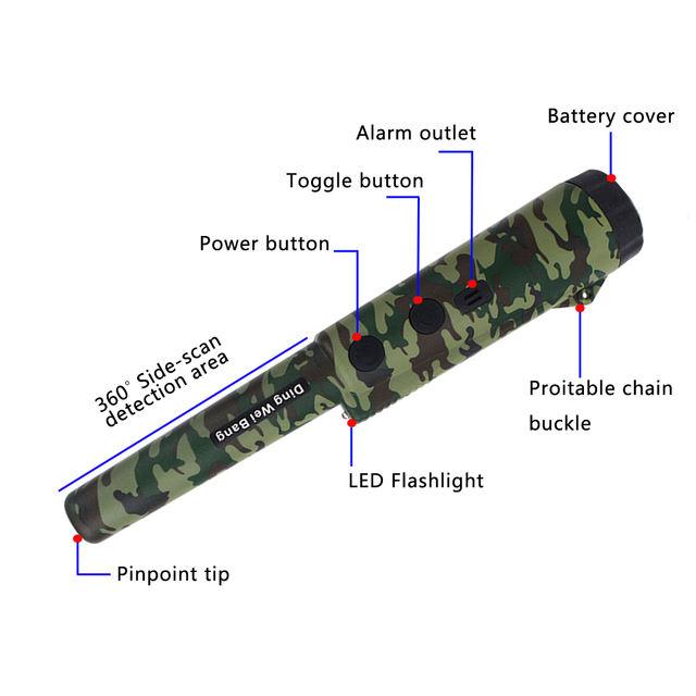 Professional Gold Metal Detector Finder Underground Scanner Sound Vibrator Alarm Hunting