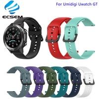 Correia de smart watch para umidigi uwatch gt, pulseira de substituição para acessórios de relógio inteligente com pulseira ajustável tamanho l s, pulseira de cor pura