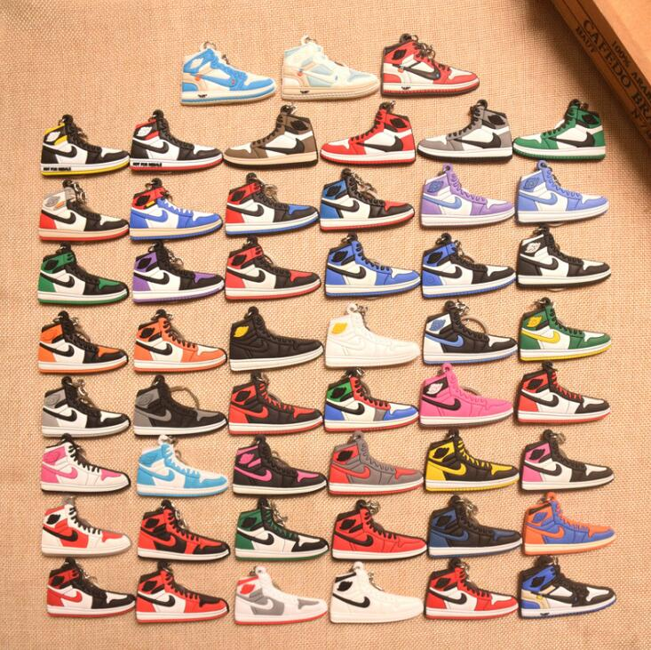 17 Color Mini Silicone 11 Keychain Bag Charm Woman Men Kids Key Ring Gifts Sneaker Key Holder Accessories Shoes Key Chain
