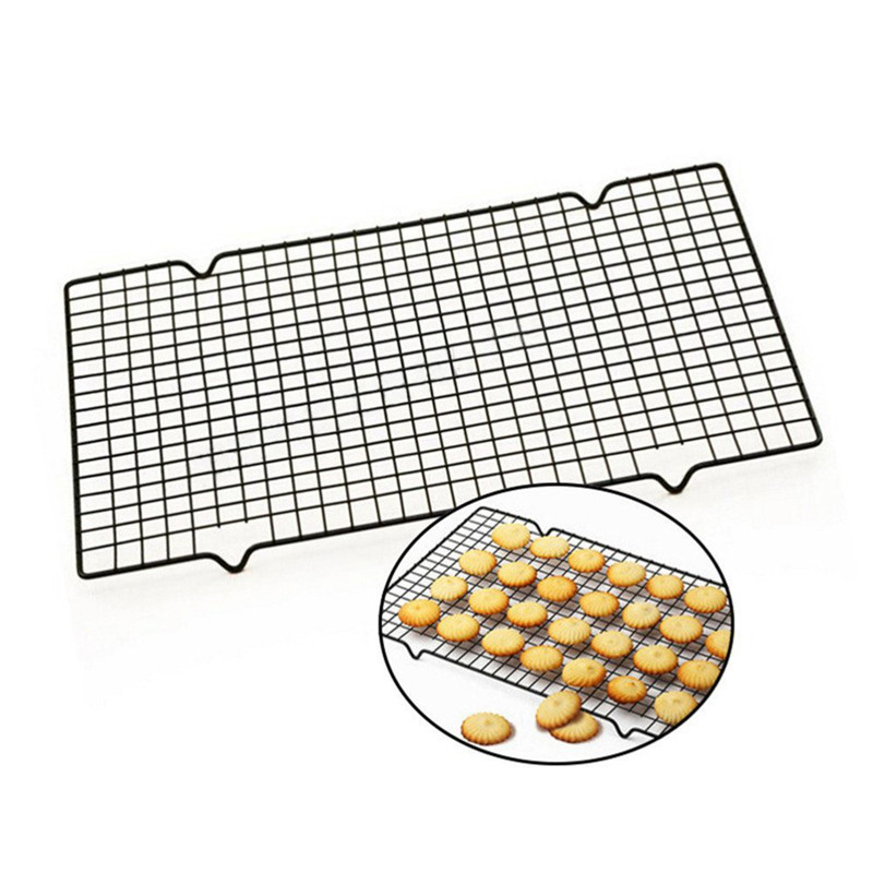 1pc Carbon Steel Non-stick Cooling Rack Cooling Grid Baking Tray For Biscuit Cookie Pie Bread Cake Baking Rack