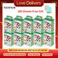 Fujifilm Instax Mini Film White 10-200 листов для фотокамеры FUJI Instant Mini 9 Mini 8 7s 70 90 + Бесплатный фотоальбом сумка для карт