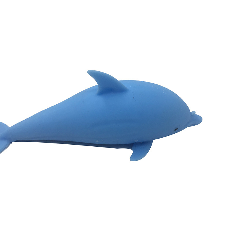 Squishy Dolphin Vent Toy Smash Squeeze Kawaii Kid Anti Decompression Splat Relief Flour Ball enlarge