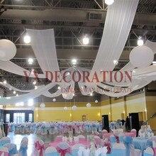 Дешевая цена 145 см ширина шелк льда драпировка для потолка крыша ткань для навеса драпировка для украшение для свадьбы