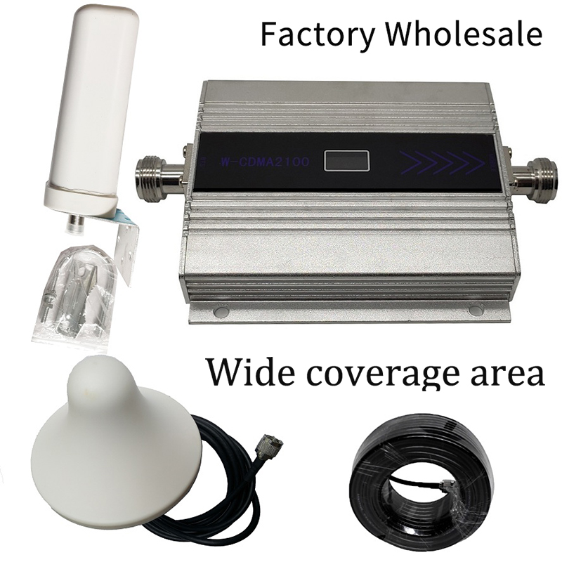 Best-Selling (LTE Band 1)  UMTS Mobile Signal Enhancer 3G (HSPA) WCDMA 2100MHz Cellular Repeater Amplifier Gain Antenna Kit