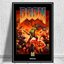Poster Prints Painting-Pictures Halo Video-Games Canvas Doom Living-Room Wall-Art Home-Decor