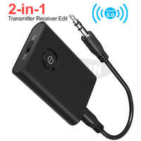 2 IN 1 Wireless Bluetooth 5.0 Adapter HIFI Bluetooth Receiver Bluetooth Transmitter For Speaker with Audio 3.5mm Jack Cable