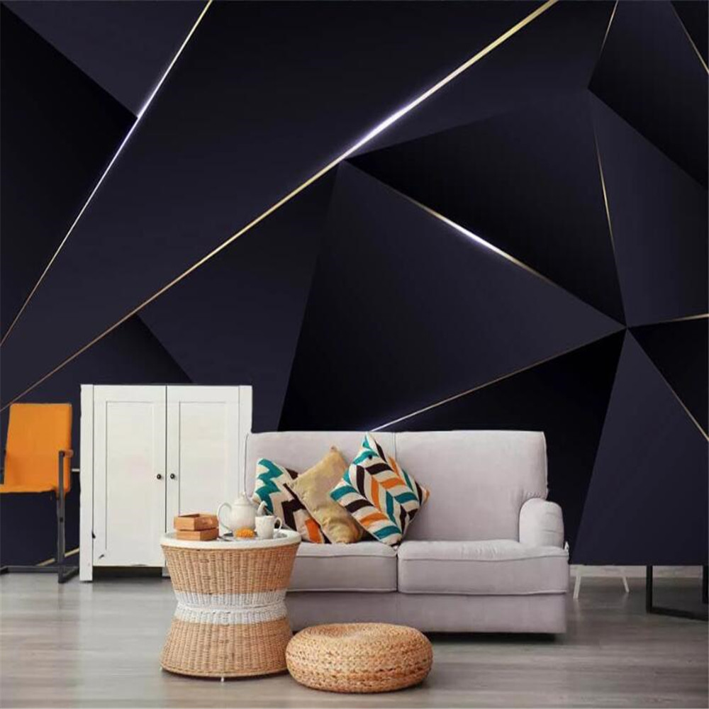 Custom 3D Large Mural Wallpaper Nordic Modern Minimalist Geometric Stereo TV Background Wallpaper Mural