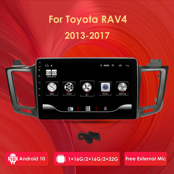 car android gps navigation player For Toyota RAV4 Rav 4 2013-2017 car radio Multimedia stereo Navi WiFi 4G obd dvr dab cam-in pc image