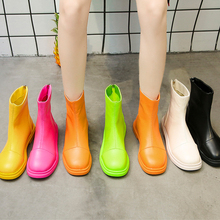 Fashion Fall Boots Colorful Ankle Women Pink Yellow White Soft Leather 2019 New Winter Autumn Boot