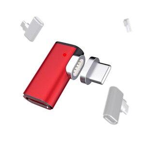Image 5 - 87W 4,3 EINE Magnetische USB C Adapter für MacBook Pro 90 Ellenbogen USB Typ C Lade Connector für Samsung USB Adapter USB C Ladegerät