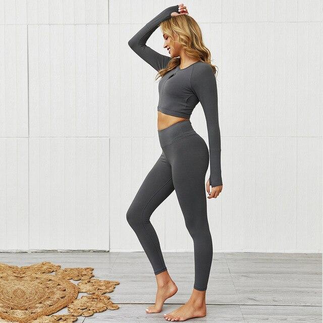 Купить женские бесшовные комплекты для йоги с высокой талией леггинсы картинки цена