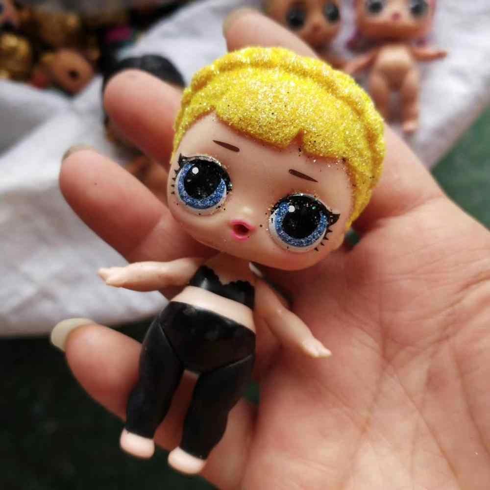 Muñecos originales de L. O.l para niños, recién llegados, muñecos originales Lol con purpurina y pelo de PVC, modelo de figuras de acción, regalos de cumpleaños para niñas