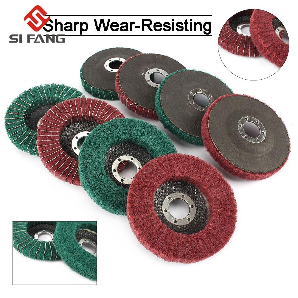 "1//2//5//10Pcs 5/""Fiber Polishing Wheel Grinding Pad Angle Grinder Disc 22mm Hole 9P"