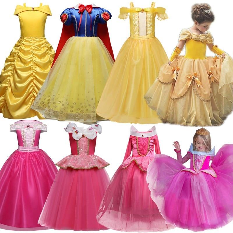 Girls Princess Dress Halloween Party Cosplay Costume Kids Children Robe 1