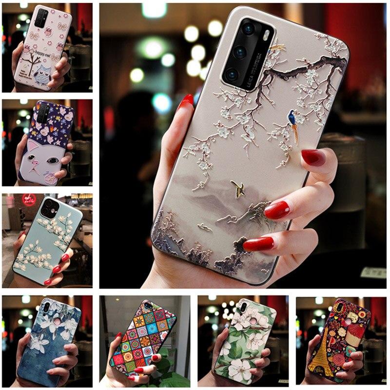 Высококачественный защитный чехол для OPPO Realme GT чехол красивым объемным рельефным Мягкий силиконовый чехол для Realme GT 5G C20 C21 телефон чехол s ...