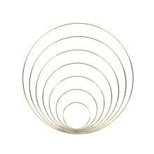 10-40cm złoty kolor Metal Catcher okrągły pierścień Hoop DIY wieniec rzemiosło trwałe haft Handmade Hoop akcesoria do wystroju domu