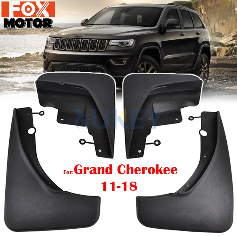 OEM Molded Splash Guard Mud Flap Front /& Rear Kit Set of 4 for Jeep Cherokee New