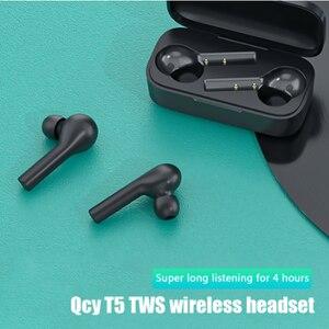 Image 2 - QCY T5 2019 prawda bezprzewodowe słuchawki Bluetooth 5.0 sterowanie dotykowe słuchawki sportowe zestaw słuchawkowy Stereo