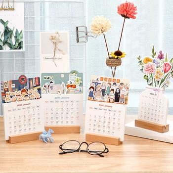 2020 cute table calendar table beautiful creative calendar memo desk decor