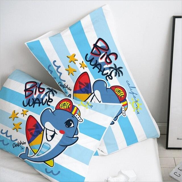3D Pillow Case Pillowcase Custom/50x70/50x75/50x80/70x70 Decorative Pillow Cover,Kids Bedding for baby/boys,Cute dinosaur