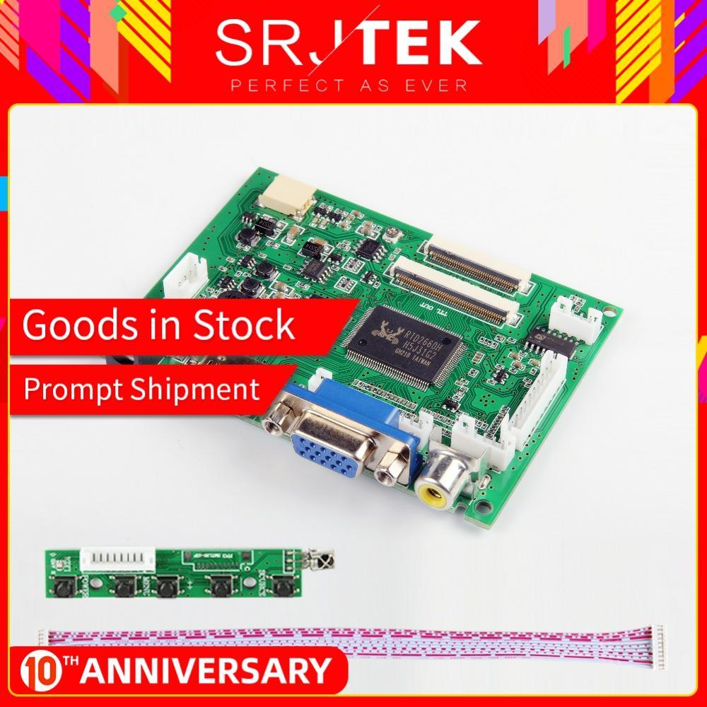 Srjtek VS-TY2662-V2 HDMI VGA 2AV 40 /50 Pins PC Controller Board For Raspberry PI 3 EJ101IA-01G 8 Bit IPS LCD Display Driver