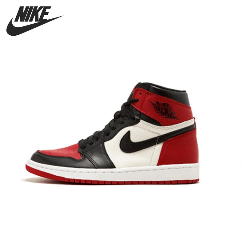 Nike Air Jordan 1 Original Shoes Breathable Children Basketball Shoes Outdoor Sports Man Sneakers #555088-001