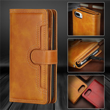 Luxury Wallet Case For iPhone 8 Case Leather Flip Cover Apple iPhone 8 Plus Phone Cases Stand Card Bags