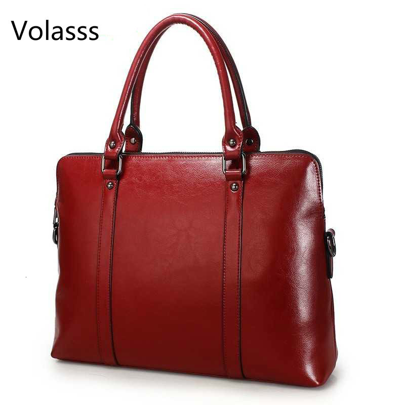 New Genuine Leather Briefcase For Woman Laptop Computer Bag Women's Handbags Office Ladies Shoulder Messenger Bags Bolso Hombre
