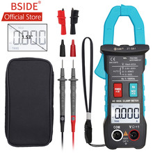 BSIDE 600A Digital Clamp Multimeter Inrush Current True RMS Auto Ranging 4000 Counts Voltage NCV Resistance with Flashlight(China)