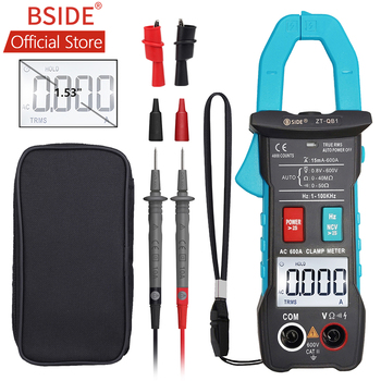 BSIDE 600A Digital Clamp Multimeter Inrush Current True RMS Auto Ranging 4000 Counts Voltage NCV Resistance with Flashlight