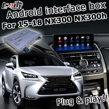 Android / carplay interface box for Lexus NX200t NX300h NX300 NX 2015-2019 etc video interface GPS navigation by lsailt image
