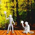 Светодиодный подвесной светильник в скандинавском стиле с изображением обезьяны  подвесной светильник из смолы  подвесной светильник в ст...