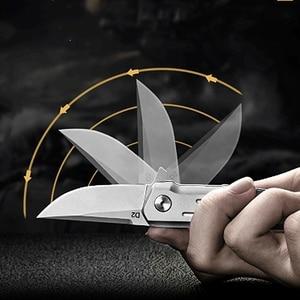 Image 4 - KESIWO couteaux pliants mini D2, petit anneau à clé, couteau de poche de survie, à clapet, sauvetage multi pêche, EDC outils à main