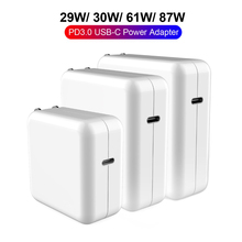 PD Charger USB C Power Adapter 18W 30W 61W 87W QC3.0 PD Charger For new MacBook Pro/Air Macbook iphone 12 pro Max/iPad Pro 2020