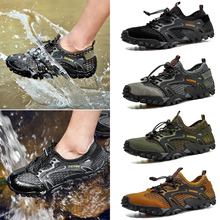Men MeshShoes Outdoor Professional Non-slip Durable Trekking Upstream Shoes Male Cool Hiking Wading Water Sports Sneakers D25
