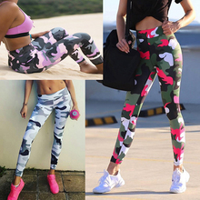 Sexy Leggings Activewear Anti-Cellulite-Pants Push-Up Workout Sport Camouflage Plus-Size