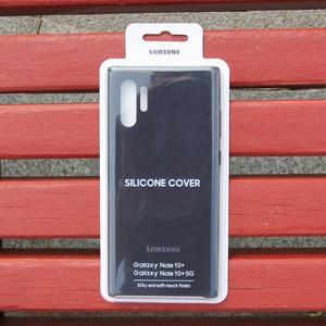 Image 5 - Samsung oficjalny oryginalny silikonowy pokrowiec ochronny do Galaxy Note 10 Note10 NoteX Note 10 Plus obudowy do telefonów komórkowych