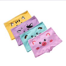 4pcs Girls Cartoon Briefs Children Cotton Underwea